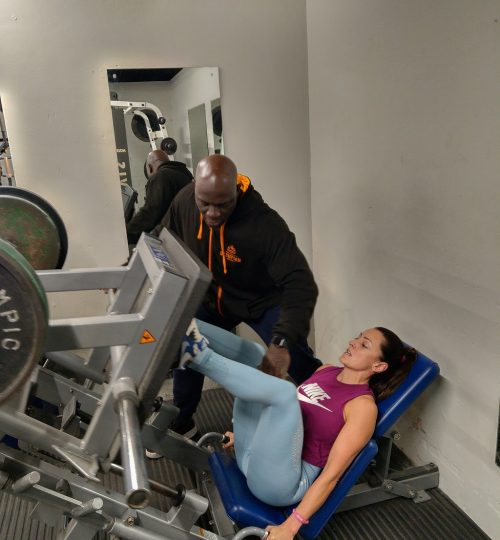Olympian Gym Personal Training Yasmin Leg Press